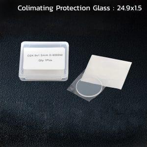 กระจกป้องกันเลส์ล่าง สำหรับเครื่องตัด เครื่องตัดเลเซอร์ ขนาด 24.9x1.5mm